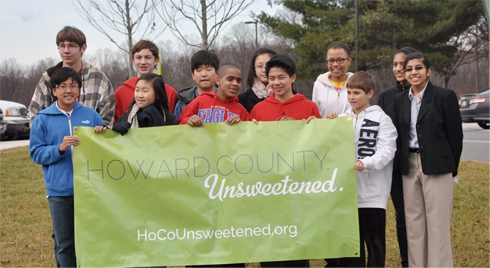 Kids with Howard County Unsweetened banner